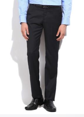 LAWMAN Slim Fit Men's Dark Blue Trousers