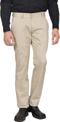 Allen Martin Regular Fit Men's Cream Trousers
