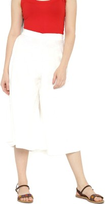 Anouk Regular Fit Women's White Trousers at flipkart