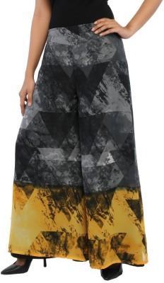 Rigoglioso Regular Fit Women's Grey, Yellow Trousers