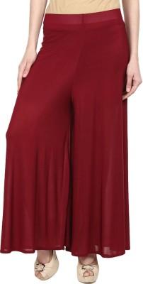 Esszee Regular Fit Women's Maroon Trousers