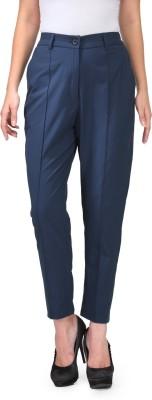Natty India Slim Fit Women's Dark Blue Trousers