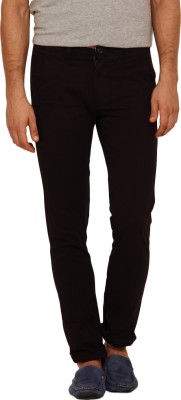 I-Voc Slim Fit Men's Black Trousers
