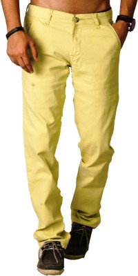 bombay casual jeans Slim Fit Men's Gold Trousers