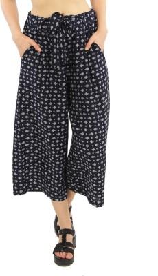 Good Fashion Regular Fit Women's Blue Trousers