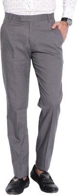 Fizzaro Regular Fit Men's Grey Trousers