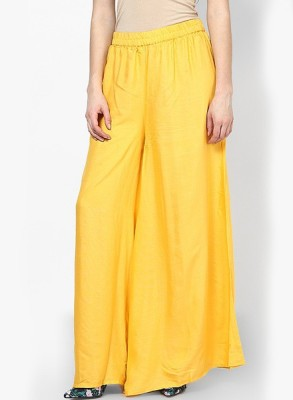TNQ Regular Fit Women's Yellow Trousers