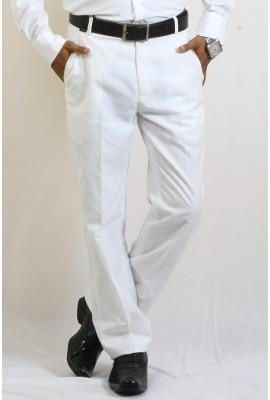 DMARK Slim Fit Men's White Trousers