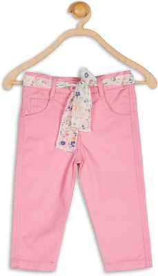 612 League Regular Fit Baby Girl's Pink Trousers