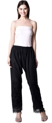 NumBrave Regular Fit Women's Black Trousers