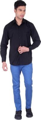 Black Sparrow Slim Fit Men's Linen Light Blue Trousers