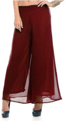 MDS Jeans Slim Fit Women's Maroon Trousers