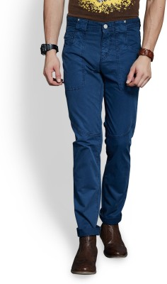Route 66 Slim Fit Men's Blue Trousers