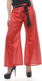Lavennder Regular Fit Women's Red Trouse...