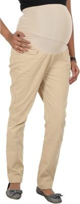 Kriti Western Maternity Slim Fit Women's Brown Trousers