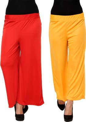 Limeberry Regular Fit Women's Red, Yellow Trousers