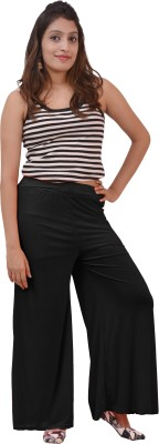 Ace Regular Fit Women's Black, White Trousers