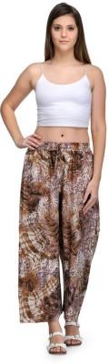Saffron Craft Regular Fit Women's Brown, White Trousers
