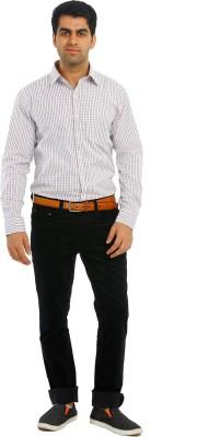 Richlook Slim Fit Men's Black Trousers