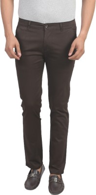 Trendy Trotters Regular Fit Men's Brown Trousers