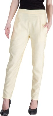 Castle Regular Fit Women's Yellow Trousers
