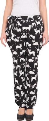Paprika Regular Fit Women's Black, White Trousers