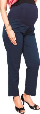 Nine Maternity Wear Regular Fit Womens Dark Blue Trousers