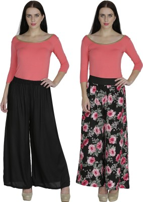 Shopingfever Regular Fit Women's Black, Black Trousers