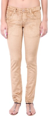 Fashion Cult Slim Fit Women,s Brown Trousers