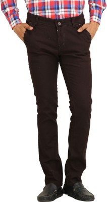 Stylz Regular Fit Men's Linen Black Trousers