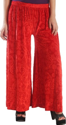 Stay Blessed Regular Fit Women's Red Trousers