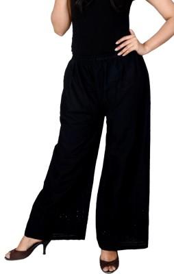 Lystock Regular Fit Women's Black Trousers