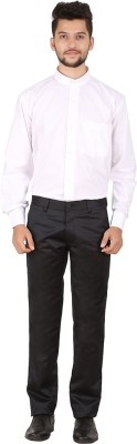 LG Regular Fit Men's Black Trousers