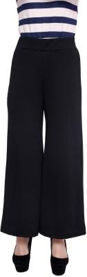 Rampwalk Regular Fit Women's Black Trousers