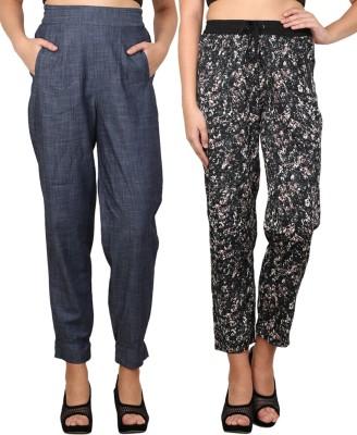 Nordic Bazaar Regular Fit Women's Blue, Black Trousers