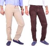4 Seasons Skinny Fit Men's Cream, Brown ...