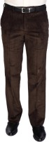 Raymond Regular Fit Mens Brown Trousers