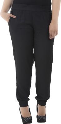 LastInch Regular Fit Women's Black Trousers