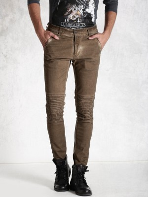 Roadster Regular Fit Men's Brown Trousers