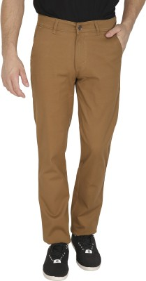 Sparky Slim Fit Men's Brown Trousers