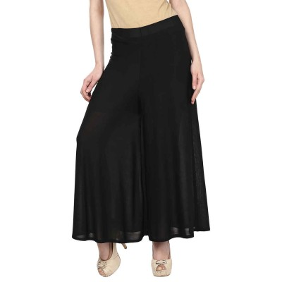 Esszee Regular Fit Women's Black Trousers