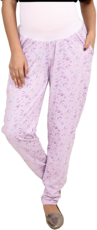 9teen Again Regular Fit Women's Purple Trousers