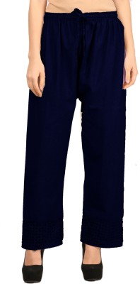 Vastraa Fusion Regular Fit Women's Dark Blue Trousers