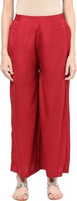 Indibox Regular Fit Women's Maroon Trousers at flipkart