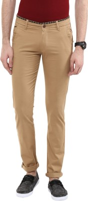 Urban Navy Slim Fit Men's Gold Trousers