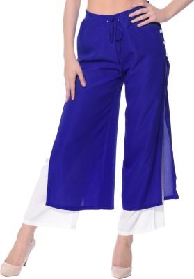 Uptownie Lite Regular Fit Women's Blue Trousers at flipkart