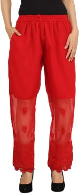 Indiankala4u Regular Fit Women's Red Trousers