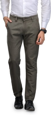 Global Nomad Slim Fit Men's Grey Trousers