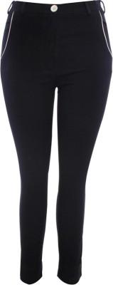 TRYFA Slim Fit Women's Black Trousers