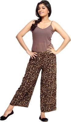 Loco En Cabeza Regular Fit Women's Brown Trousers